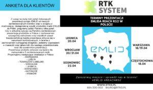 mapa z prezentacjami produktów emlid organizowana przez dydtrybutora marki Emlid w Polsce- firmę Rtk System.